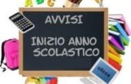 INIZIO ANNO SCOLASTICO 2019-2010